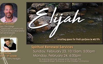 Elijah - Spiritual Renewal Info Slide